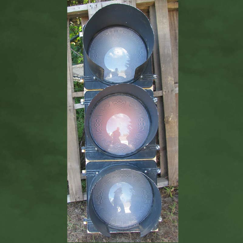 12-inch Clear LED 3-section Traffic Light -- $100