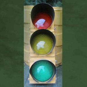 12-inch Tinted LED 3-section Traffic Light -- $110
