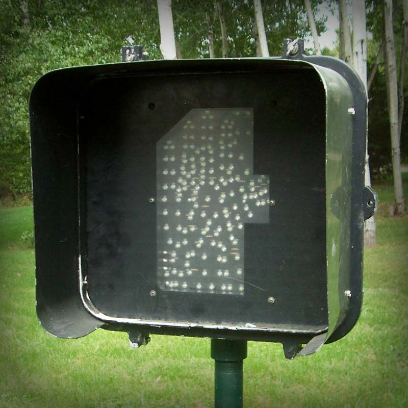 1-section 16-inch LED Man/Hand LED Pedestrian Signal