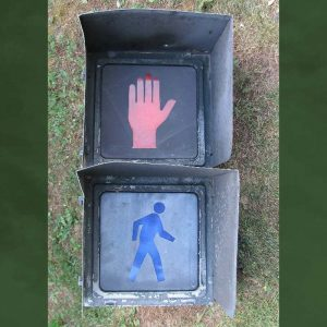12- inch 2-section Incandescent Man/Hand Pedestrian Signal -- $60