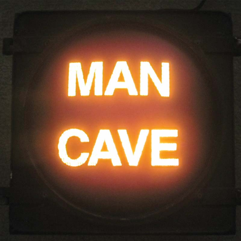 Man Cave novelty traffic light