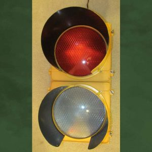 2-section LED traffic light