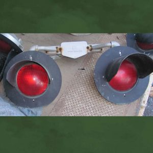 Railroad crossing signal dual