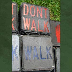 12-inch glass worded pedestrian signal lenses