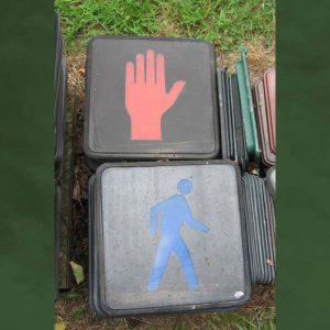 12inch man hand glass pedestrian signal lenses