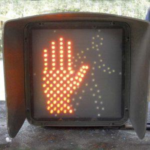 16-inch man-hand pedestrian crossing signal