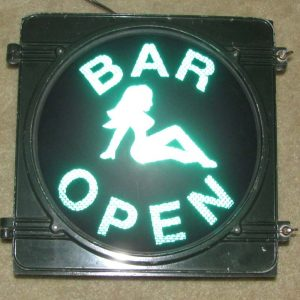 Bar Open novelty traffic light