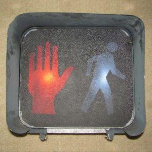 16-inch Incandescent Man-Hand Pedestrian Signal