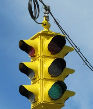 Restored Crouse-Hinds Type DT 4-way traffic light